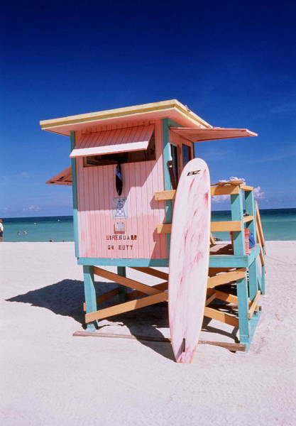 Usa Florida Miami Beach Lifeguard Art Print