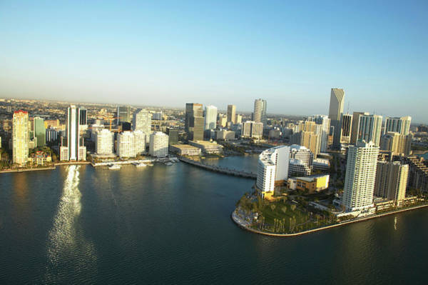 Wall Art - Photograph - Usa, Florida, Miami, Downtown, Aerial by George Doyle