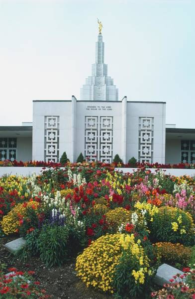 Wall Art - Photograph - Usa, Idaho Falls, Mormon Temple With by Andy Holligan