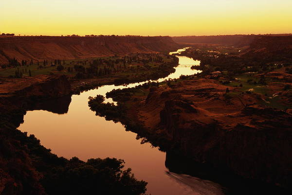 Snake Photograph - Usa, Idaho, Twin Falls, Snake River At by Glen Allison