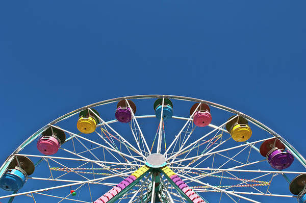 Photograph - Usa, Maine, Fryeburg, Ferris Wheel by Win-initiative