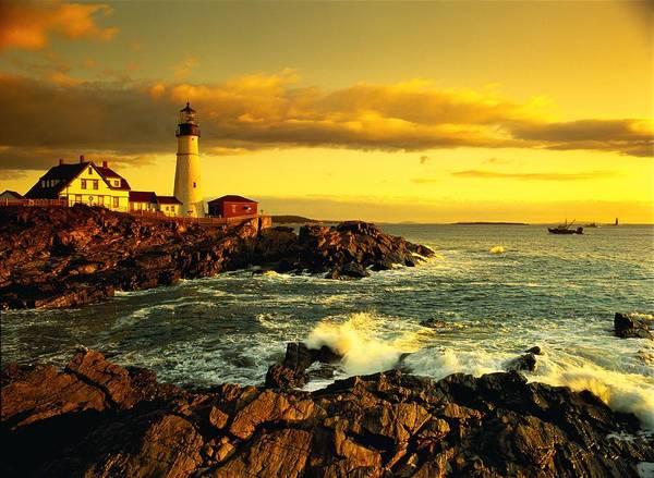 Casco Bay Photograph - Usa, Maine, Portland, Portland Head by Chad Ehlers