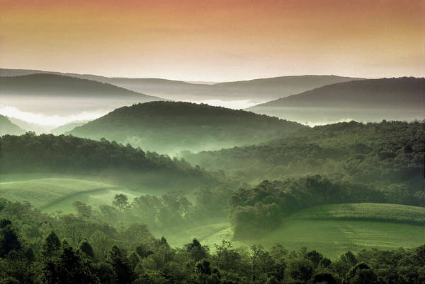 Wall Art - Photograph - Usa, Maryland, Rolling Verdant Hills by Greg Pease