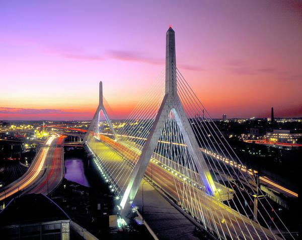 Charles Bridge Photograph - Usa, Massachusetts, Boston, Leonard P by John Coletti