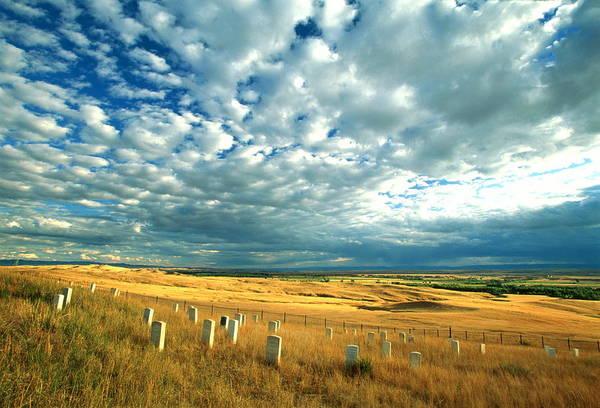 Wall Art - Photograph - Usa, Montana, Litte Bighorn Battlefield by Randy Wells