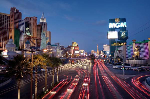 Las Vegas Photograph - Usa, Nevada, Las Vegas, Las Vegas Strip by Aaron Black