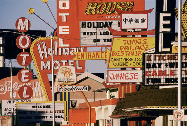 Excess Photograph - Usa, Nevada, Las Vegas, Motel And by Jonathan Olley
