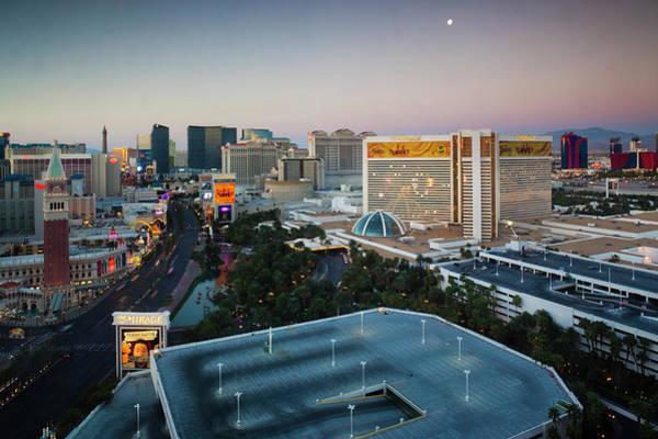 Desert View Tower Photograph - Usa, Nevada, Las Vegas, The Strip by Walter Bibikow
