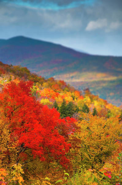 New Hampshire Photograph - Usa, New Hamphire, White Mountains by Alan Copson