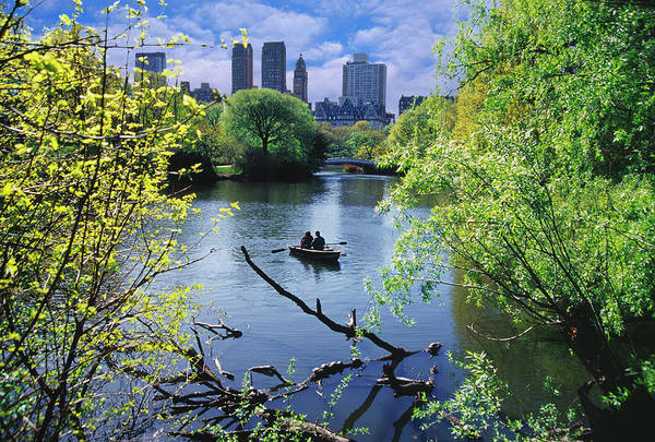 Rowing Wall Art - Photograph - Usa, New York City, Central Park, Boat by Mitchell Funk