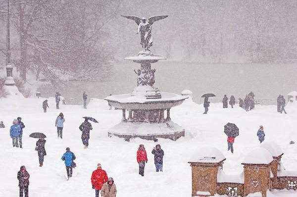 Bethesda Fountain Photograph - Usa, New York City, Central Park by Mitchell Funk