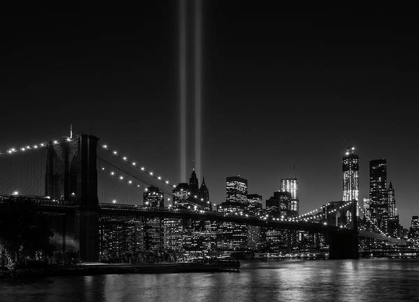 September 11 Attacks Photograph - Usa, New York City, View Over Hudson by Daniel Grill