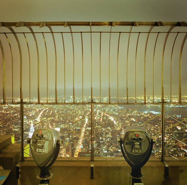 Binoculars Photograph - Usa, New York, New York City Skyline by Silvia Otte