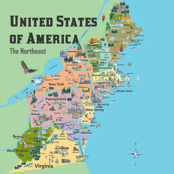 Long Island Map Art Page 5 Of 5 Fine Art America - Long-island-on-us-map