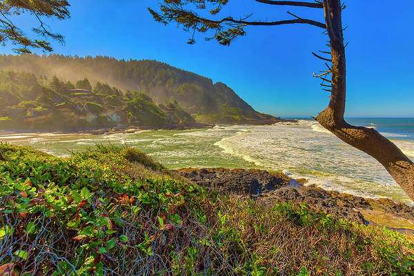 Wall Art - Photograph - Usa, Oregon, Devil's Punchbowl by Jaynes Gallery