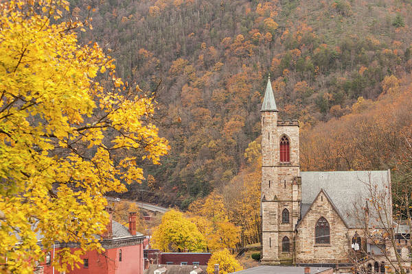 Wall Art - Photograph - Usa, Pennsylvania, Jim Thorpe, St by Walter Bibikow