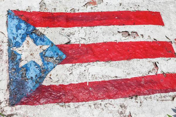 Usa Flag Photograph - Usa, Puerto Rico, Lucia Beach, Flag Of by Bryan Mullennix