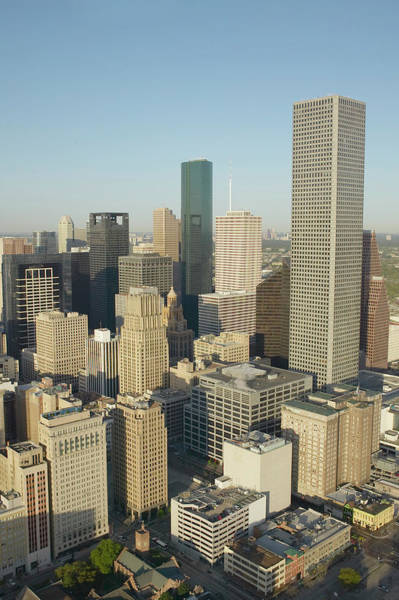 Photograph - Usa, Texas, Houston, Downtown, Aerial by George Doyle