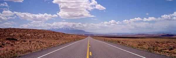 Wall Art - Photograph - Usa, Utah, La Sal Mountains, Road by Panoramic Images