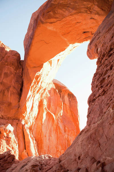 Photograph - Usa, Utah, Moab, Majestic Natural Arch by Jessica Peterson