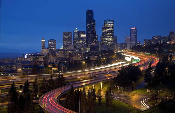 Wall Art - Photograph - Usa, Washington State, Seattle Skyline by Charles Gurche