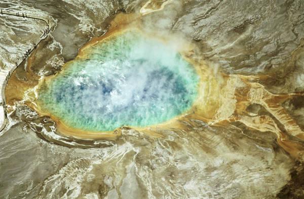 Morning Glory Photograph - Usa, Wyoming, Yellowstone National by Harvey Lloyd
