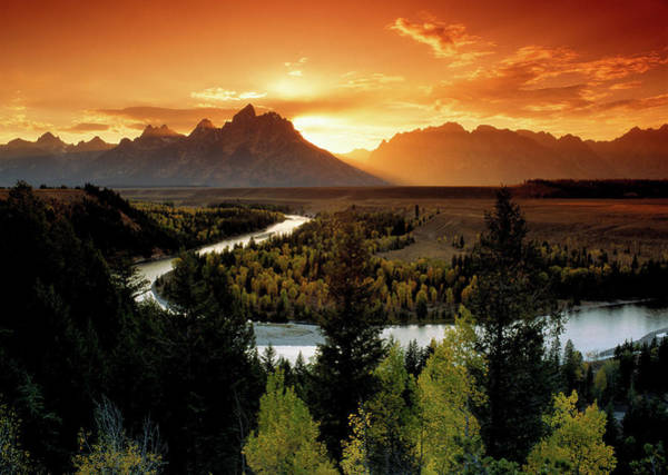 Snake Photograph - Usa,wyoming,grand Teton Np,snake River by Chad Ehlers