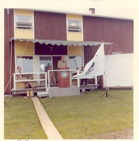 Painting - Uscg Air Station, Annette Isl., Alaska, Inspection -- Admiral E. J. Roland, Uscg, Commandant, Dedica by Celestial Images