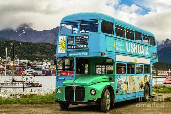 Photograph - Ushuaia City Tour Bus, Argentina by Lyl Dil Creations