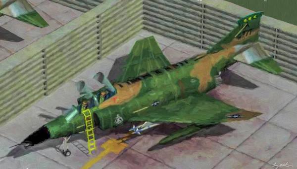 Wall Art - Digital Art - Usn F-4 Phantom II  - Oil by Tommy Anderson