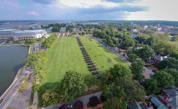 Photograph - Usna Formal Parade by Mark Duehmig
