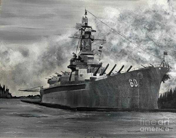 Uss Alabama Painting - Uss Alabama Battleship by Sandra Swayne