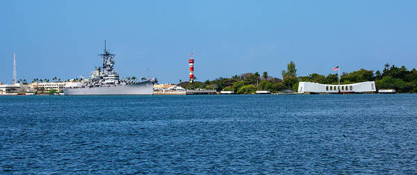 Photograph - Uss Arizona And Battleship Missouri by Anthony Jones