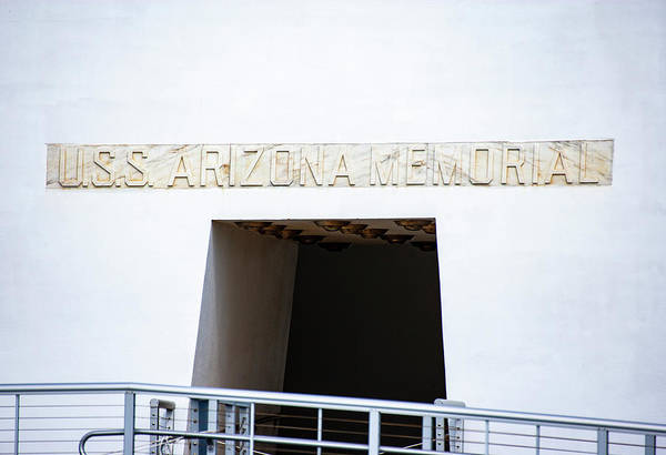 Photograph - Uss Arizona Plaque by Anthony Jones