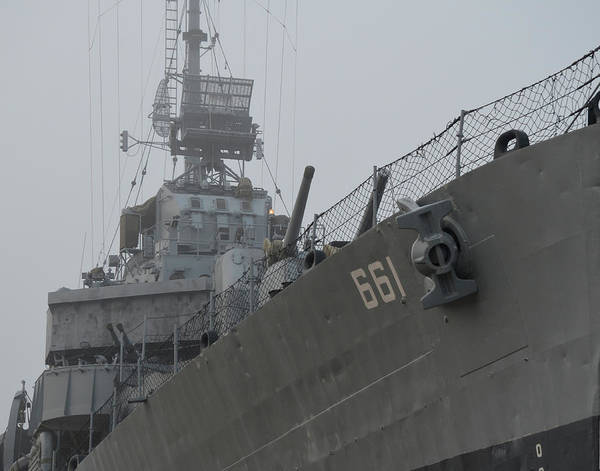 Photograph - Uss Kidd Dd 661 Side Profile by Maggy Marsh