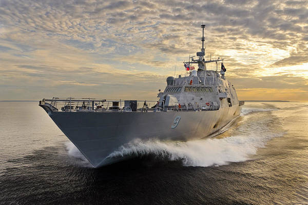 Wall Art - Photograph - Uss Little Rock Lcs-9 by Peter Chilelli