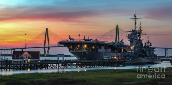 Photograph - Uss Yorktown Cv-10 In Charleston South Carolina by Dale Powell