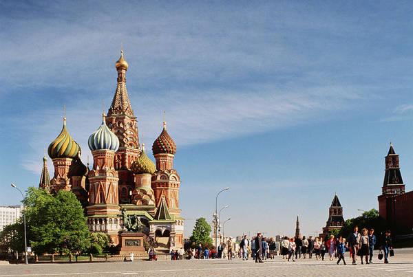 Wall Art - Photograph - Ussr,moscow,red Square,saint Basils by John Lamb