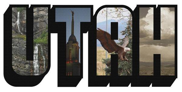 Photograph - Utah Big Letter by Colleen Cornelius