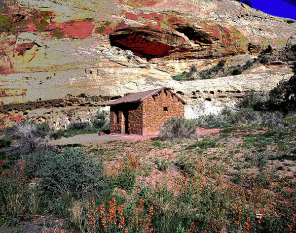 Zion Mixed Media - Utah Farm And Cabin by Charles Shoup