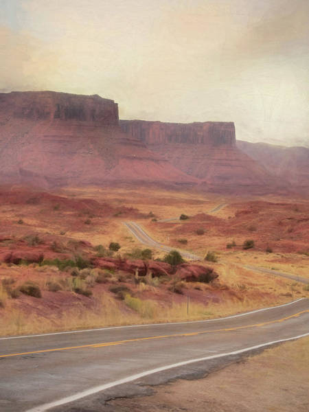 Desert Landscape Mixed Media - Utah Scenic Byway by Lori Deiter