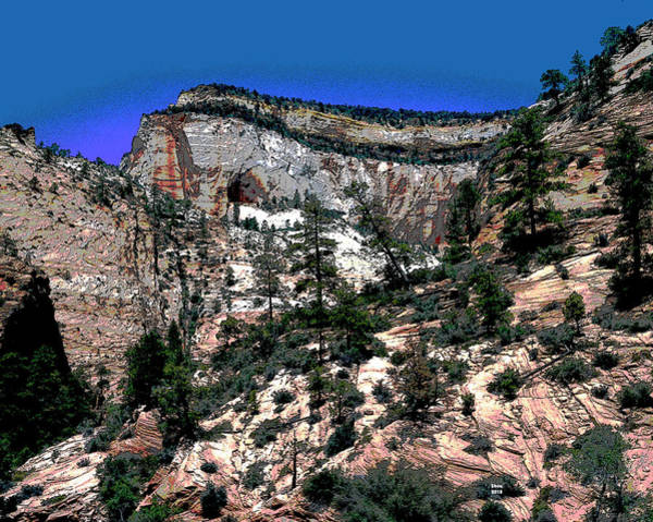 Zion Mixed Media - Utah's Zion National Park by Charles Shoup
