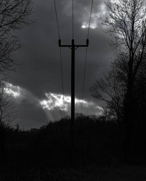 Photograph - Utility Pole Monochrome by Scott Lyons
