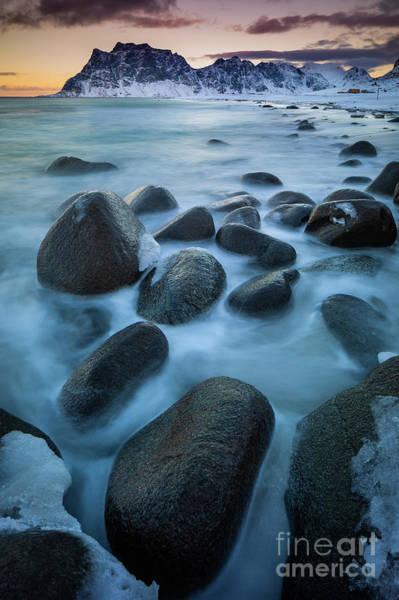 Wall Art - Photograph - Uttakleiv Boulders by Inge Johnsson