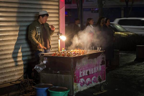 Photograph - Uyghur Street Food Vendor Urumqi Xinjiang China by Adam Rainoff