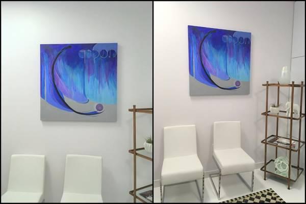 Painting - V Install by Marlene Burns