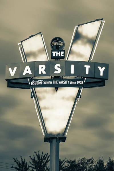 Photograph - V Is For Varsity - Atlanta Georgia Sepia by Gregory Ballos