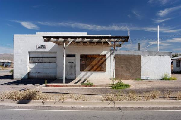 Small Town Usa Photograph - Vacant Gas Station by Jim Steinfeldt