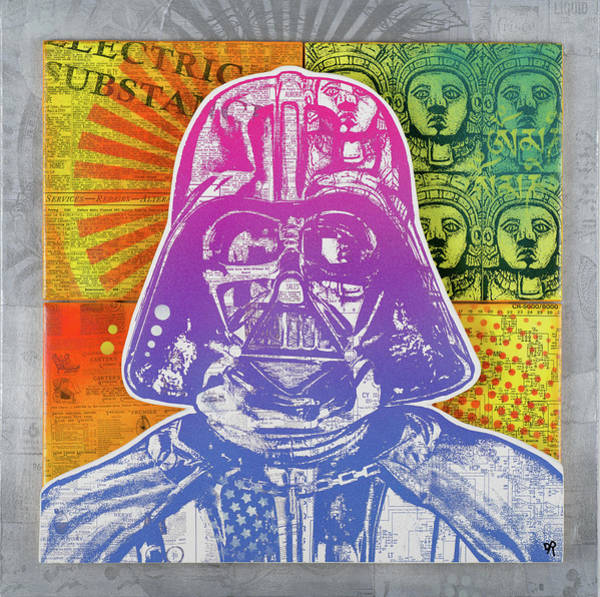 Star Wars Movie Painting - Vader Electric Substance by Dean Russo Art