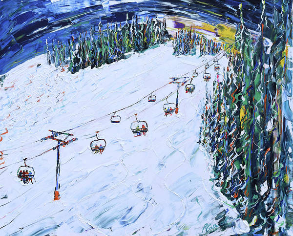 Painting - Cinch Chair Beaver Creek by Pete Caswell